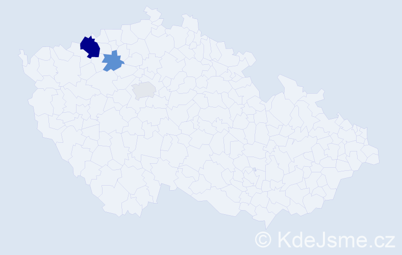 Příjmení: 'Glosík', počet výskytů 6 v celé ČR