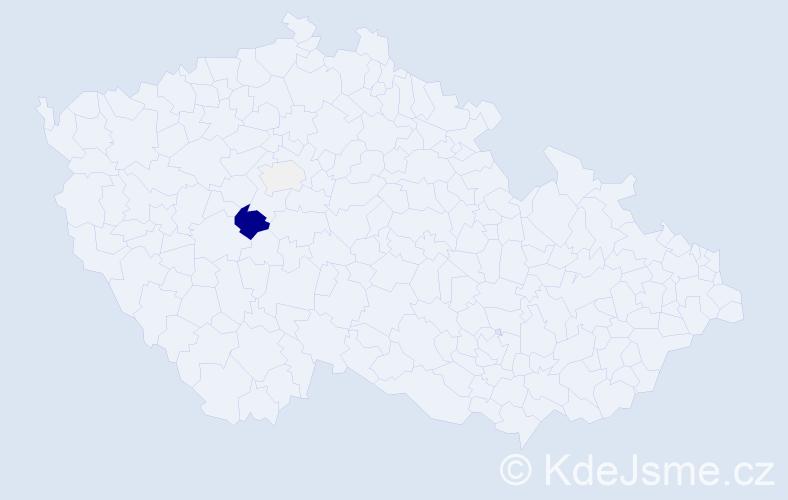 Příjmení: 'Čargo', počet výskytů 12 v celé ČR