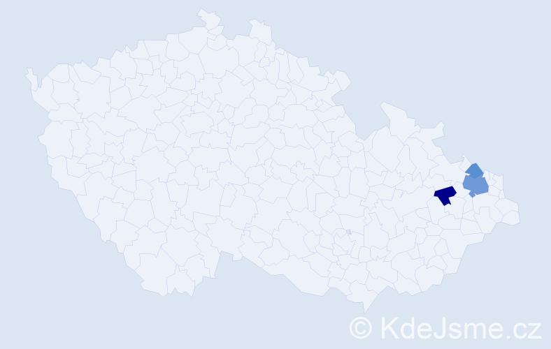 Příjmení: 'Horčin', počet výskytů 6 v celé ČR