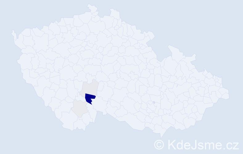 Příjmení: 'Čančura', počet výskytů 15 v celé ČR