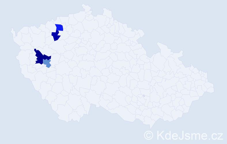 Příjmení: 'Čiliak', počet výskytů 7 v celé ČR