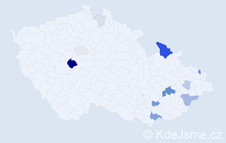 Příjmení: 'Haflant', počet výskytů 28 v celé ČR