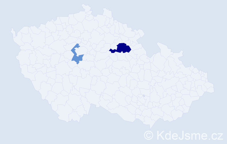 Příjmení: 'Amare', počet výskytů 4 v celé ČR