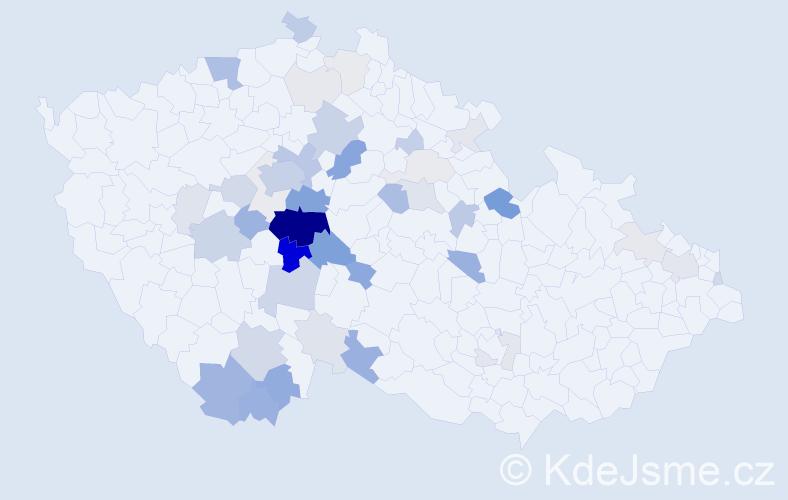 Příjmení: 'Červ', počet výskytů 159 v celé ČR