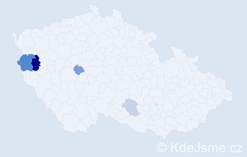 Příjmení: 'Igerská', počet výskytů 8 v celé ČR