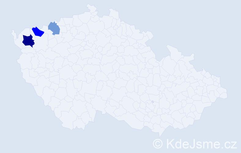 Příjmení: 'Gössnitzer', počet výskytů 10 v celé ČR