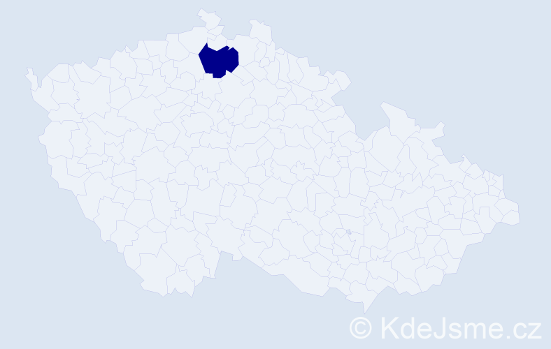 """Příjmení: '""""Kano Landa""""', počet výskytů 1 v celé ČR"""