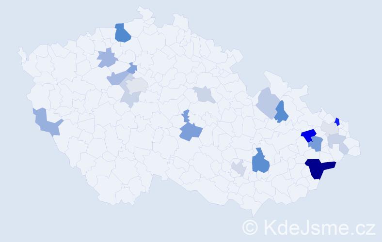 Příjmení: 'Kneblík', počet výskytů 43 v celé ČR