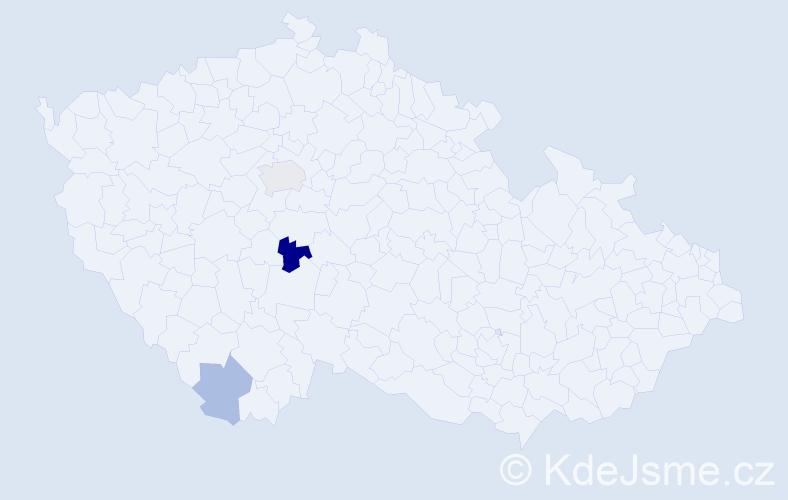 Příjmení: 'Carrascová', počet výskytů 5 v celé ČR