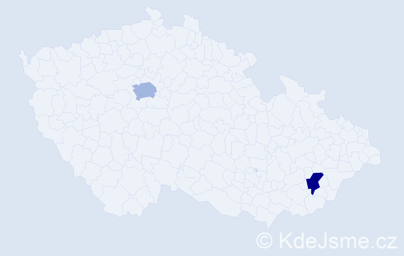 Příjmení: 'Girgel', počet výskytů 7 v celé ČR