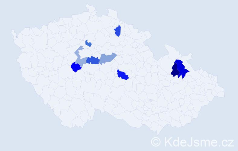 Příjmení: 'Ďörďová', počet výskytů 11 v celé ČR