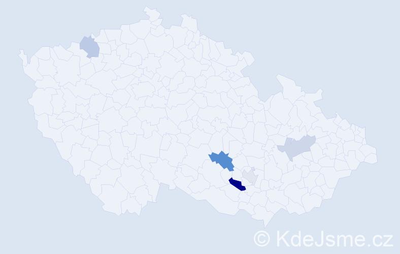 Příjmení: 'Inochovský', počet výskytů 8 v celé ČR