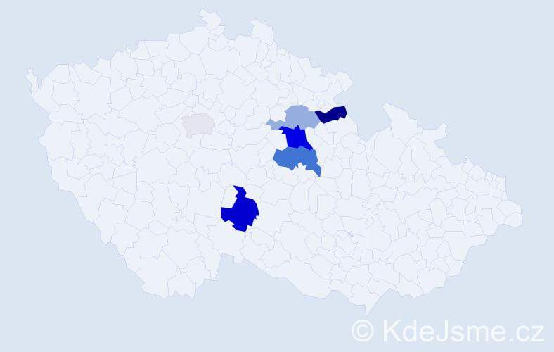Příjmení: 'Faulerová', počet výskytů 11 v celé ČR