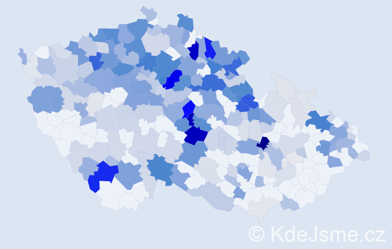 Příjmení: 'Fiedler', počet výskytů 1017 v celé ČR