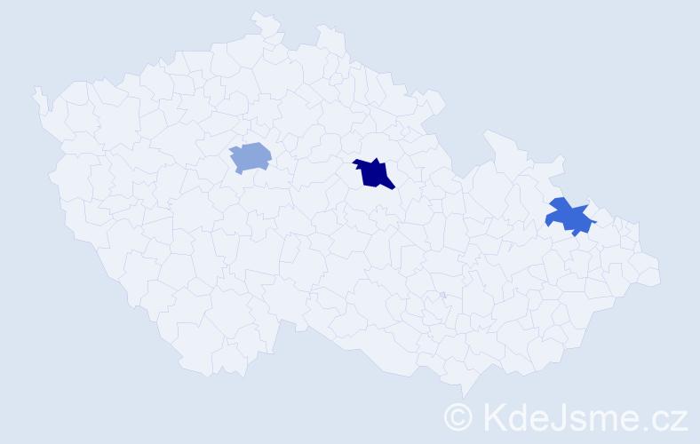 Příjmení: 'Gucklerová', počet výskytů 6 v celé ČR
