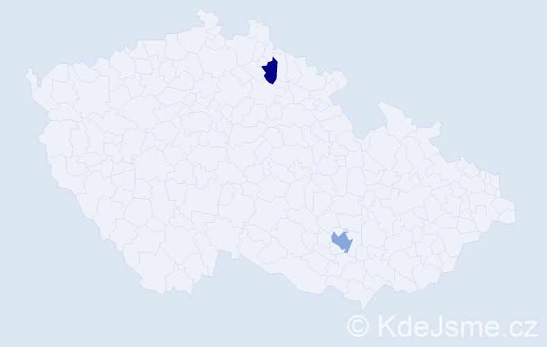 Příjmení: 'Goren', počet výskytů 3 v celé ČR