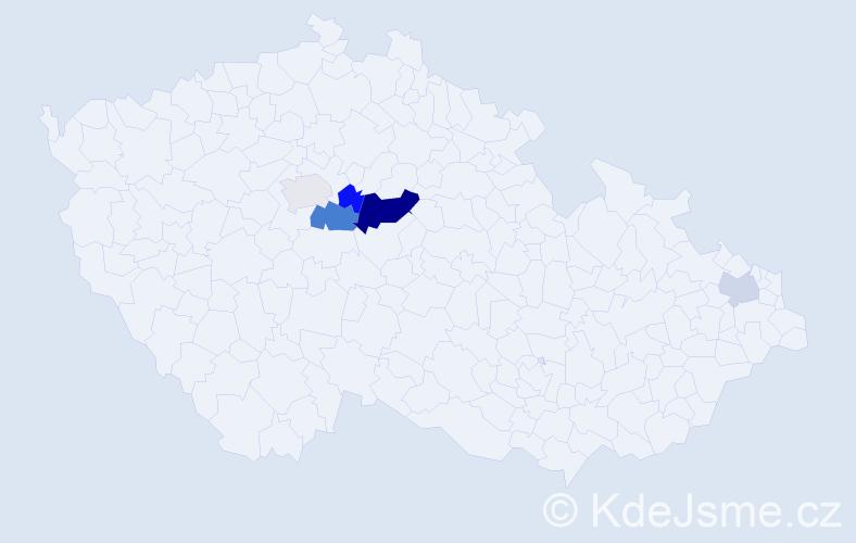 Příjmení: 'Češnerová', počet výskytů 10 v celé ČR