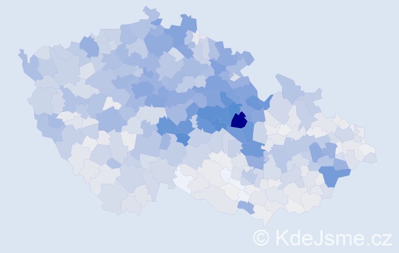 Příjmení: 'Kopecký', počet výskytů 6832 v celé ČR