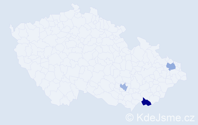 Příjmení: 'Ihnatik', počet výskytů 3 v celé ČR