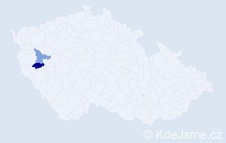 Příjmení: 'Gahn', počet výskytů 8 v celé ČR