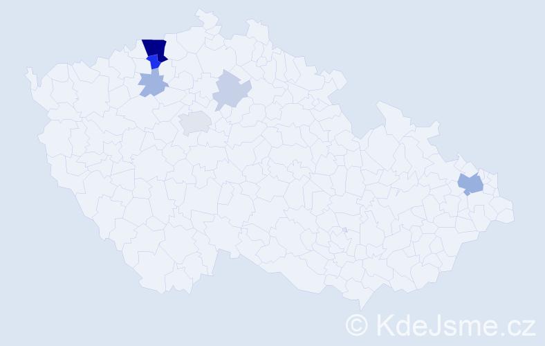 Příjmení: 'Baniková', počet výskytů 24 v celé ČR