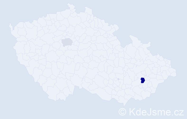 Příjmení: 'Labanczová', počet výskytů 5 v celé ČR