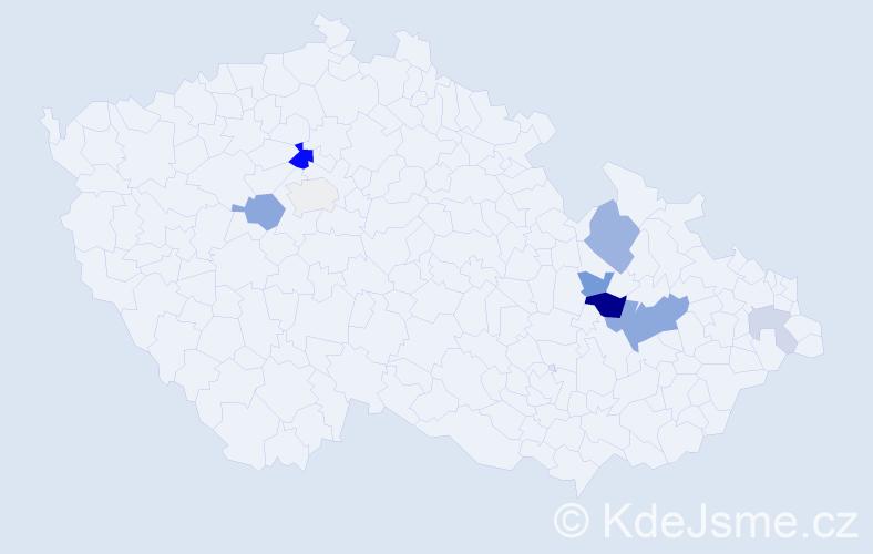 Příjmení: 'Kreuzzieger', počet výskytů 19 v celé ČR