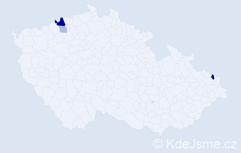 Příjmení: 'Gallíková', počet výskytů 8 v celé ČR