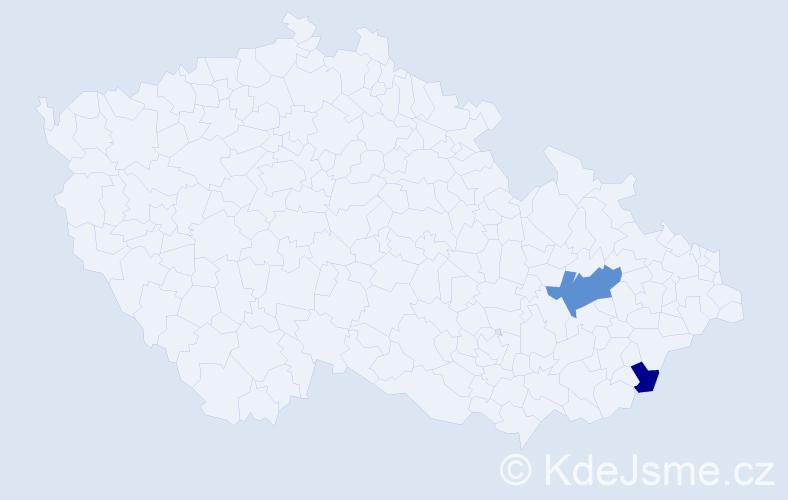 Příjmení: 'Khir', počet výskytů 3 v celé ČR
