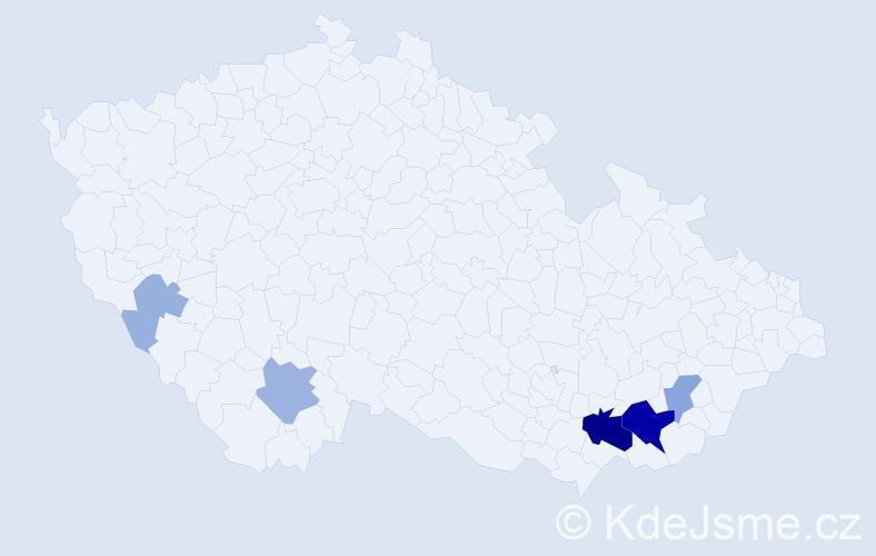 Příjmení: 'Hrkalík', počet výskytů 19 v celé ČR