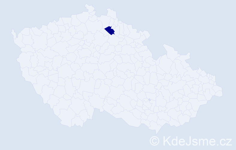 """Příjmení: '""""Grofová Pechánková""""', počet výskytů 1 v celé ČR"""
