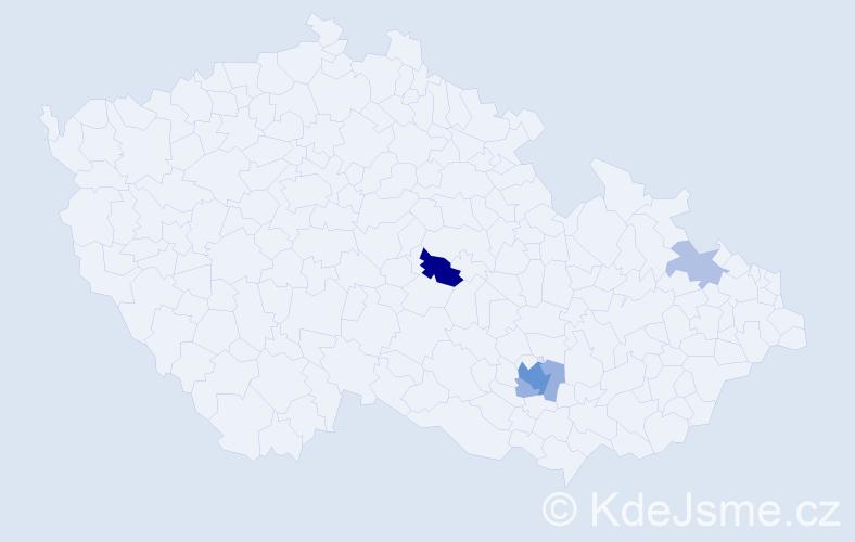 Příjmení: 'Ceyp', počet výskytů 12 v celé ČR