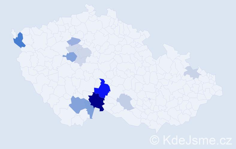 Příjmení: 'Kaiseršot', počet výskytů 35 v celé ČR