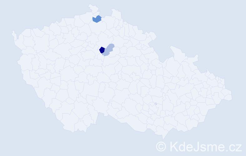 Příjmení: 'Lošotová', počet výskytů 7 v celé ČR