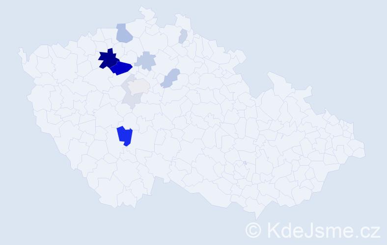 Příjmení: 'Imbr', počet výskytů 30 v celé ČR