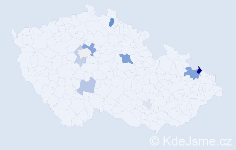 Příjmení: 'Knappe', počet výskytů 32 v celé ČR