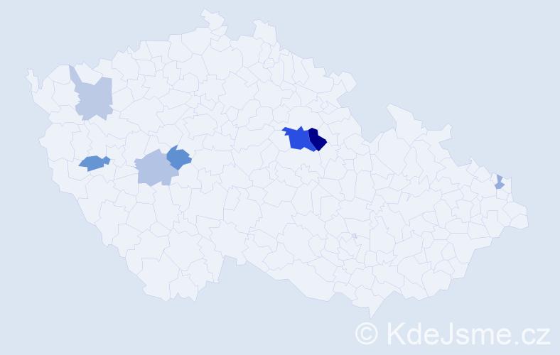 Příjmení: 'Gerega', počet výskytů 14 v celé ČR