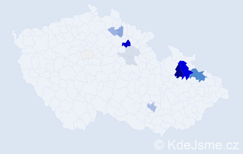 Příjmení: 'Adametzová', počet výskytů 30 v celé ČR