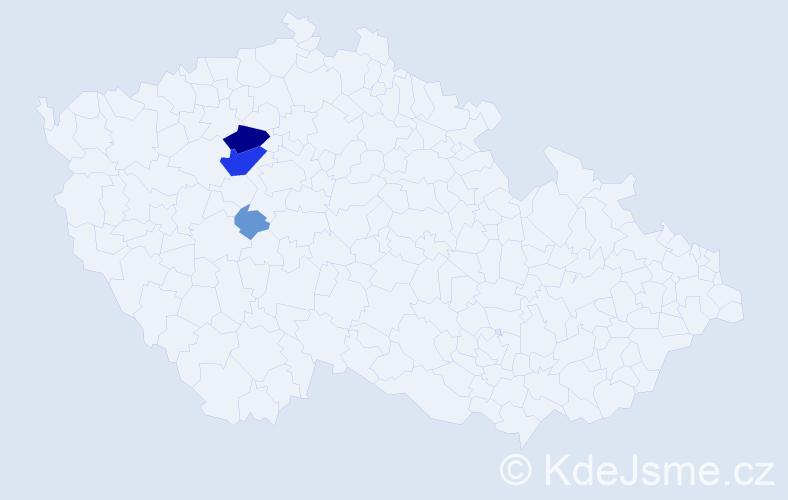 Příjmení: 'Kocálová', počet výskytů 14 v celé ČR
