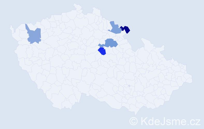 Příjmení: 'Grufová', počet výskytů 6 v celé ČR