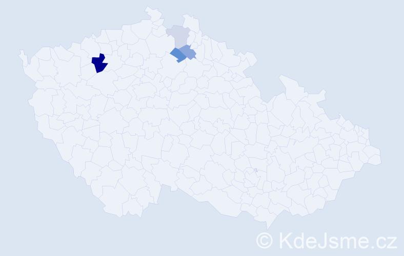 Příjmení: 'Černiková', počet výskytů 7 v celé ČR