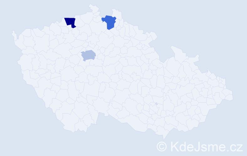 Příjmení: 'Berber', počet výskytů 8 v celé ČR