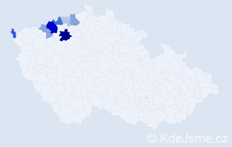 Příjmení: 'Imr', počet výskytů 17 v celé ČR