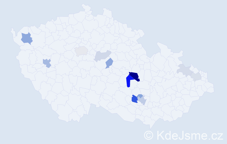 Příjmení: 'Cajzl', počet výskytů 31 v celé ČR