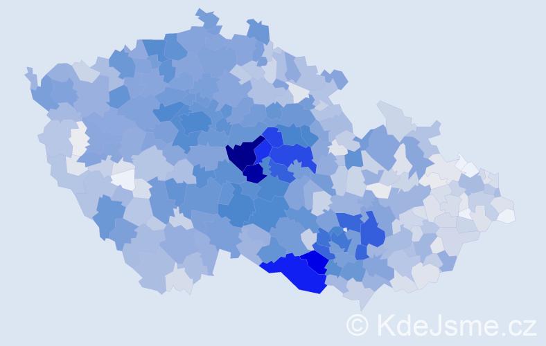 Příjmení: 'Jelínková', počet výskytů 10374 v celé ČR