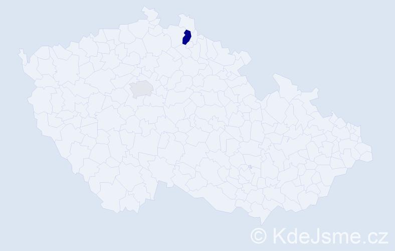 Příjmení: 'Koravská', počet výskytů 4 v celé ČR