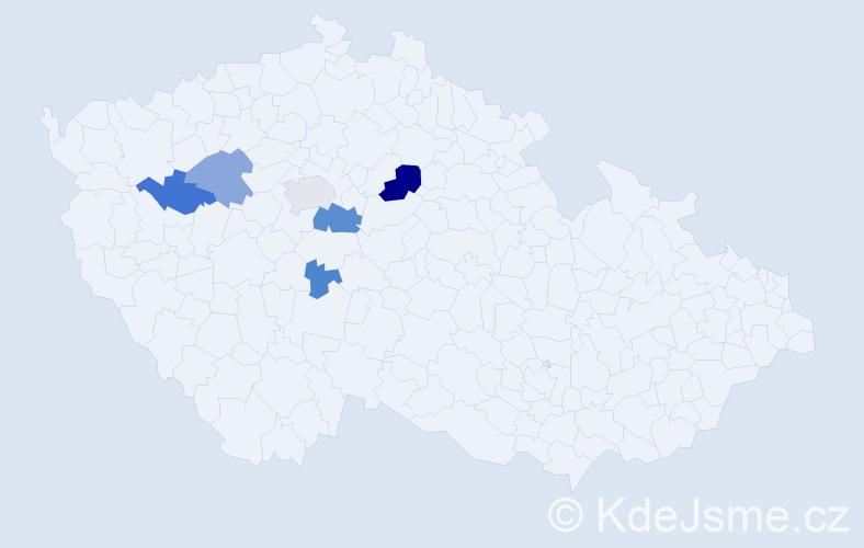 Příjmení: 'Ipoltová', počet výskytů 17 v celé ČR