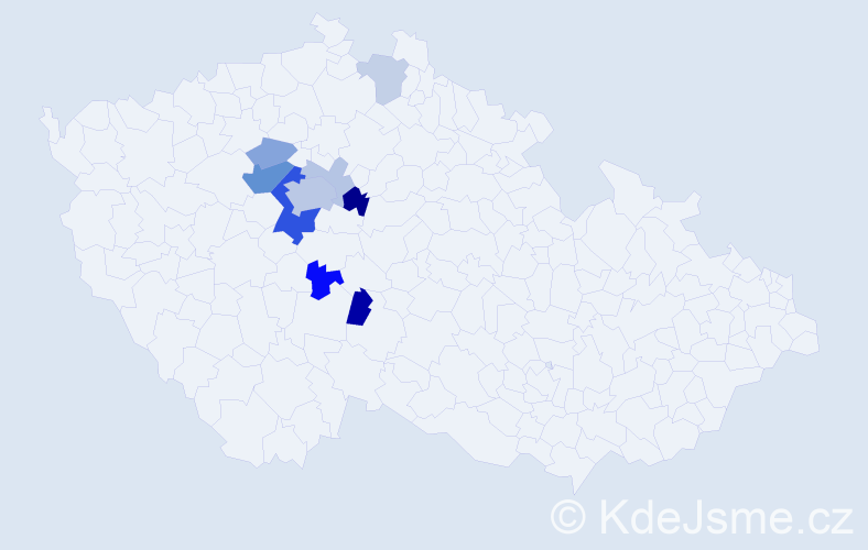 Příjmení: 'Innemanová', počet výskytů 25 v celé ČR
