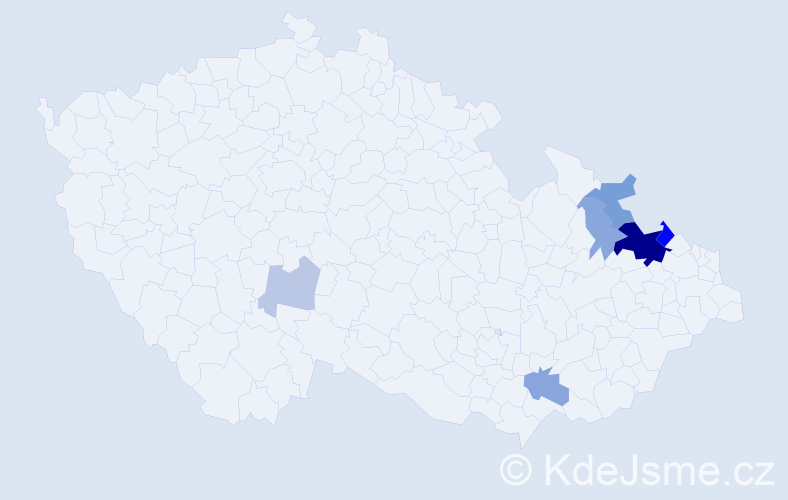 Příjmení: 'Barteska', počet výskytů 34 v celé ČR