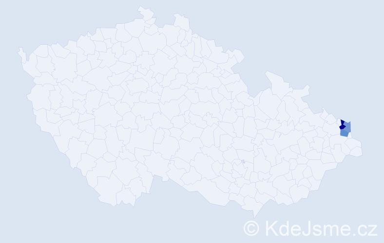 Příjmení: 'Kielkovská', počet výskytů 9 v celé ČR